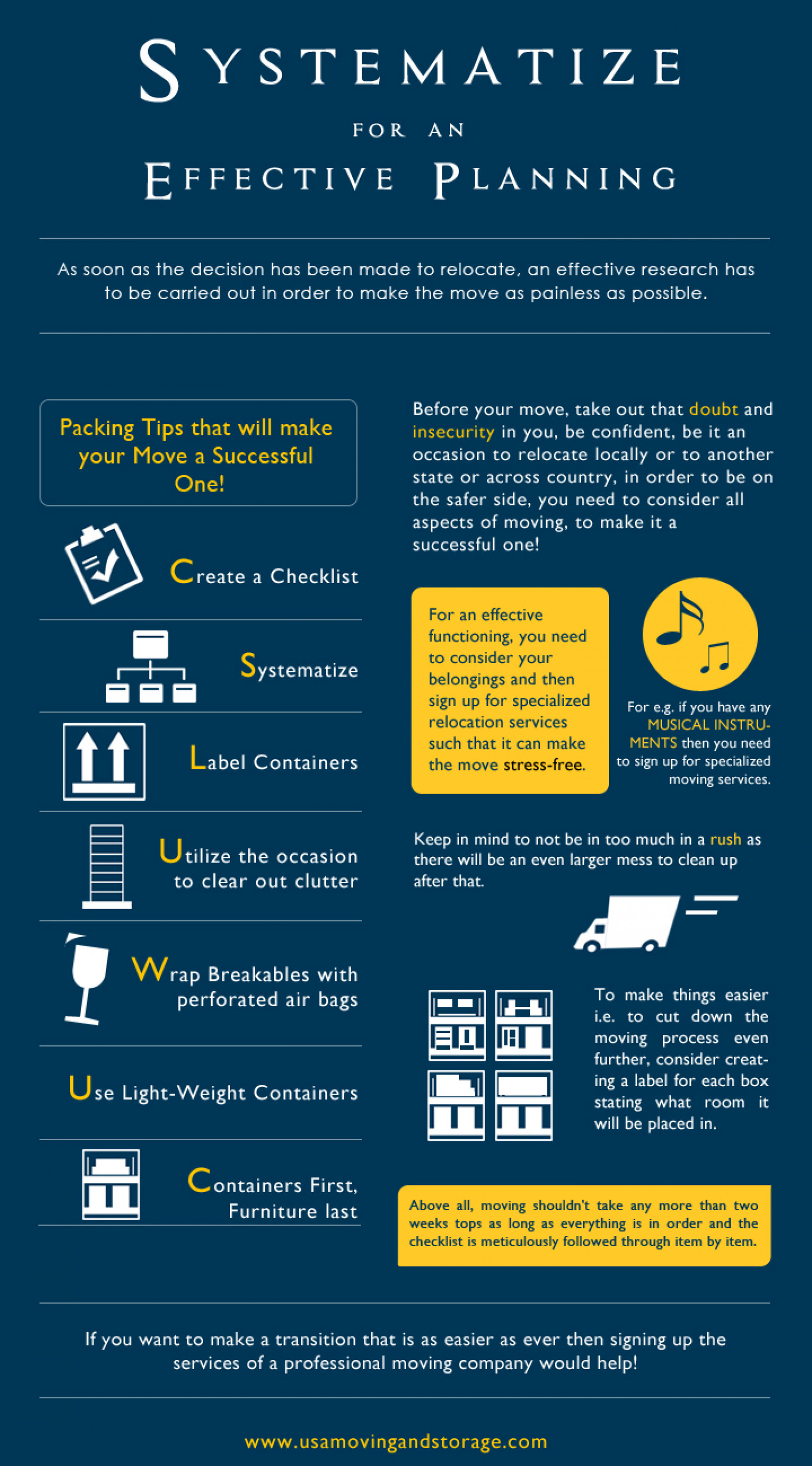 Systematize for an effective planning Infographic