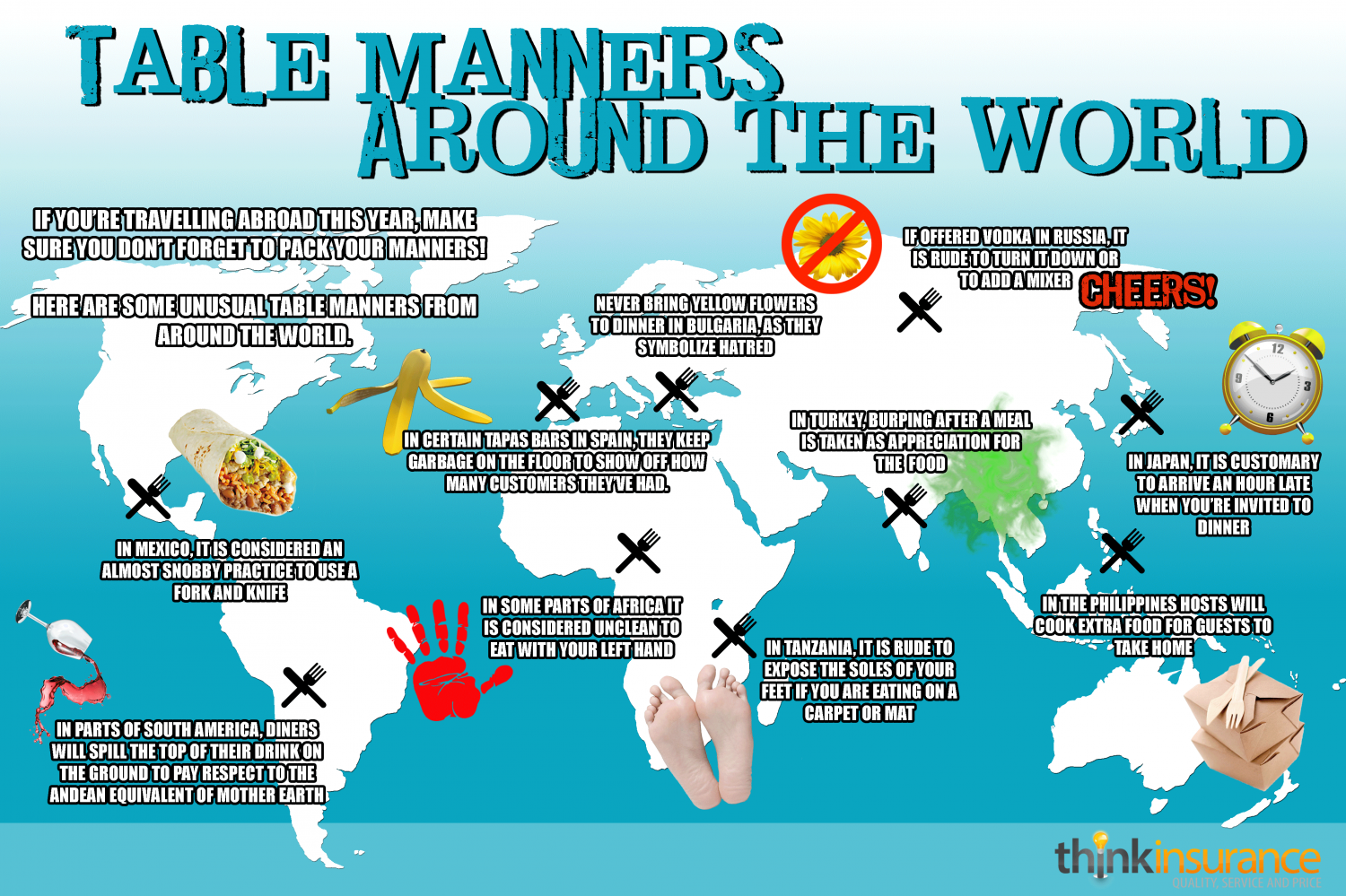Table Manners Around The World Infographic