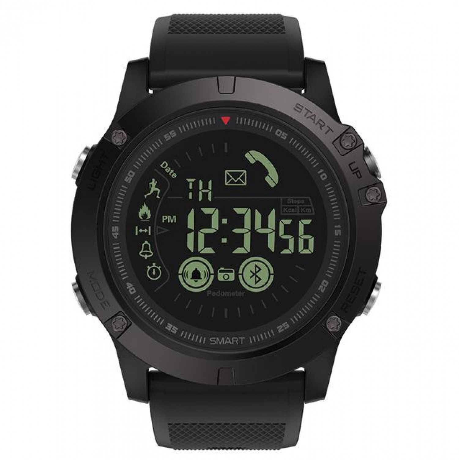 Exclusive Tactical Smartwatch Compatible with iOS & Android  Infographic
