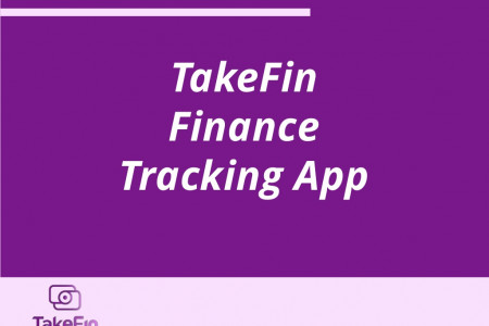 TakeFin Finance - Personal Finance Tracking App Infographic