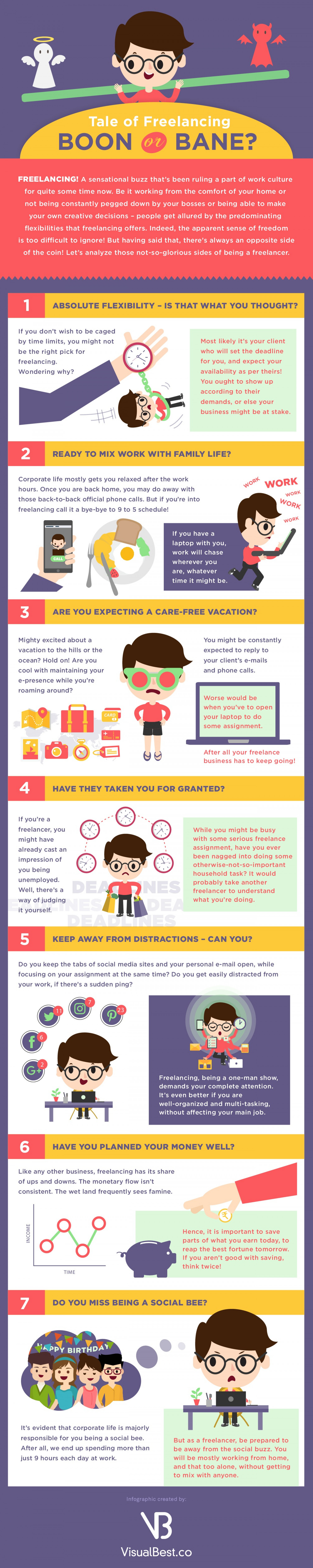 Tale of Freelancing: Boon or Bane? [Infographic] Infographic