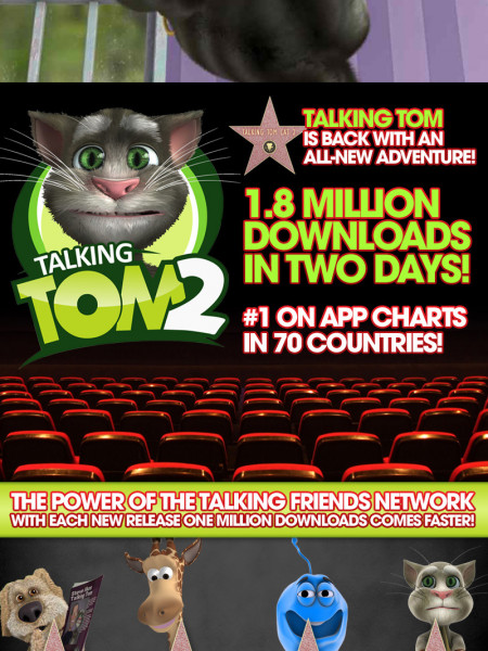 Talking Tom is back with a new adventure Infographic