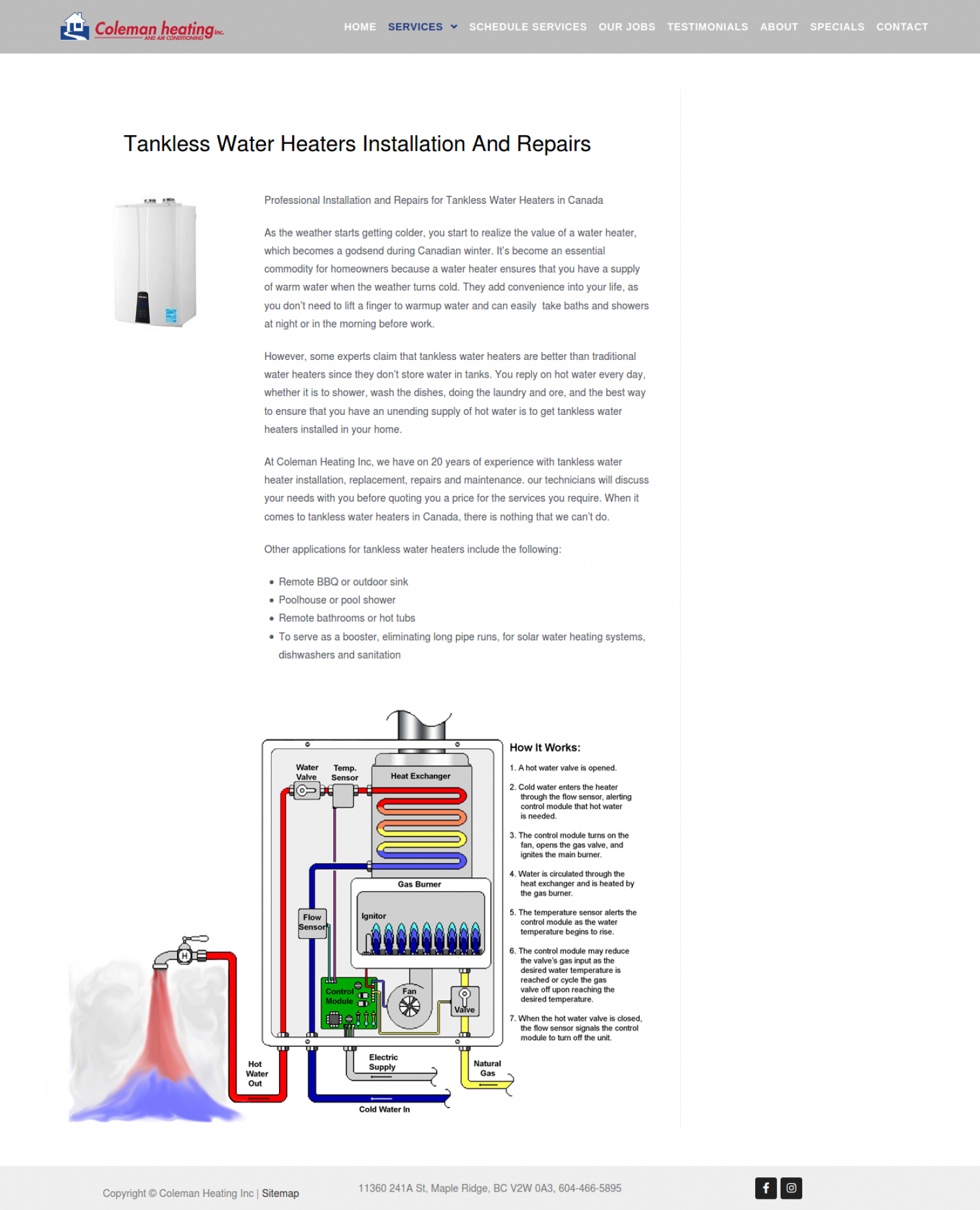 Tankless Water Heaters Installation Infographic