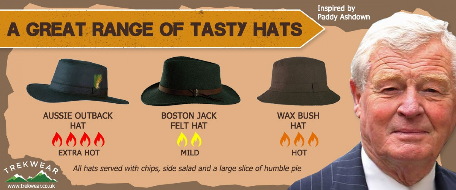 Tasty hats. The Paddy Ashdown conundrum.  Infographic