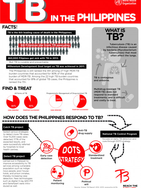 TB in the Philippines Infographic