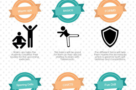 Teaching Kids Taekwondo Activities Infographic