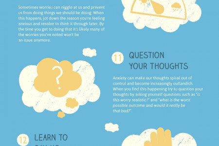 Techniques to Combat Stress & Anxiety at Work Infographic