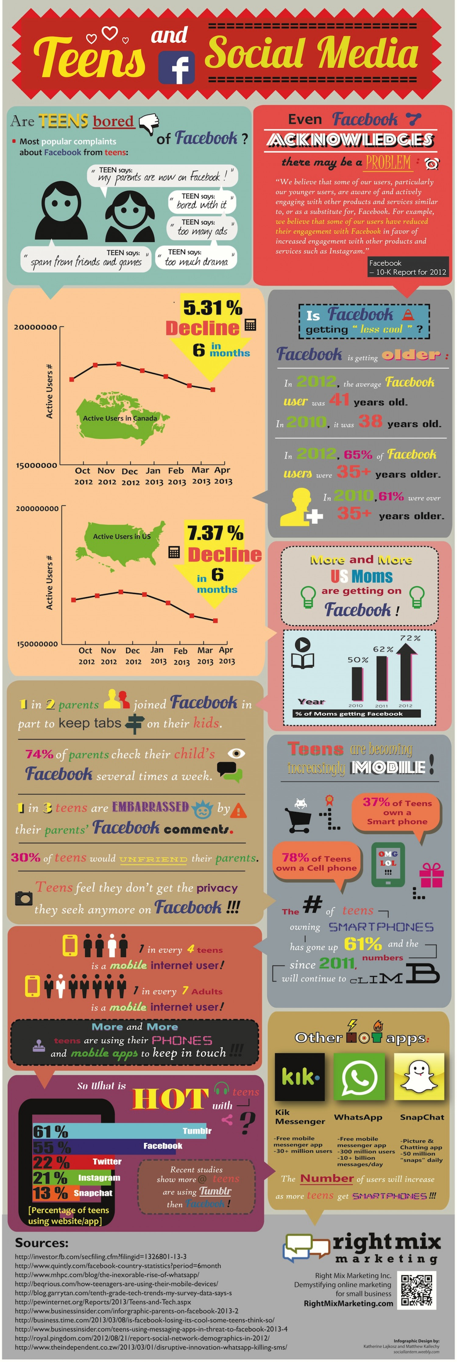 Teens and Social Media Infographic