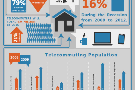 Telecommuting Statistics in the U.S. Infographic