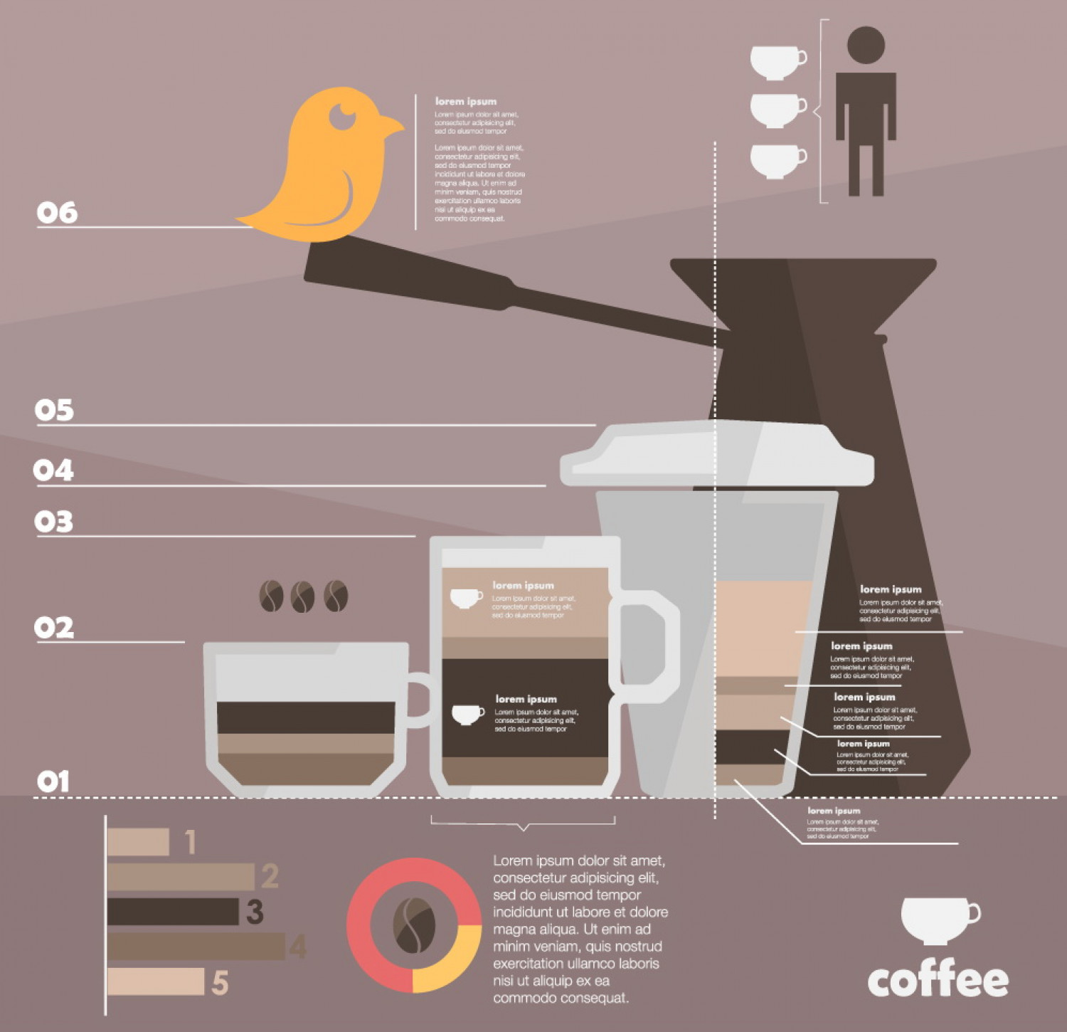 template infographic coffee  Infographic