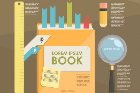template infographic literature Infographic