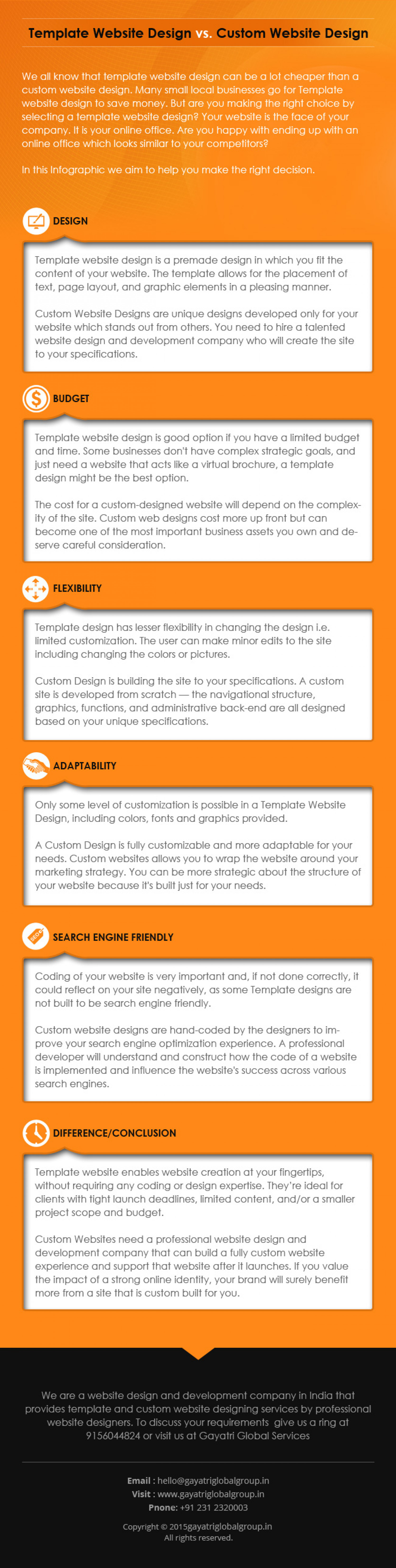 infographic website template