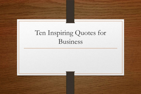 Ten Inspiring Quotes for Business Infographic