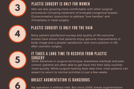 Ten Misconceptions About Plastic Surgery Infographic