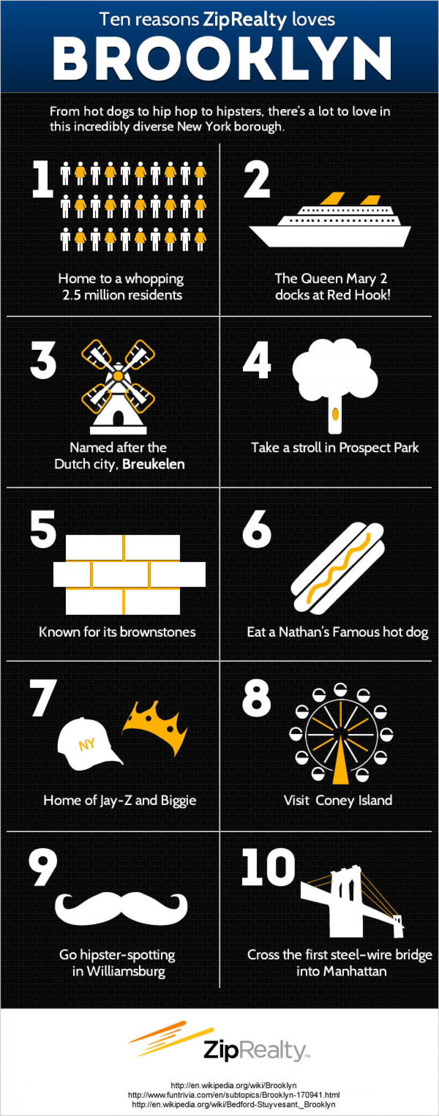 Ten Reasons To Love Brooklyn Infographic