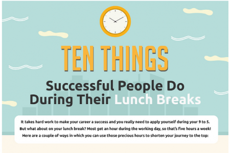 Ten Things Successful People Do During Their Lunch Breaks [Infographic] Infographic