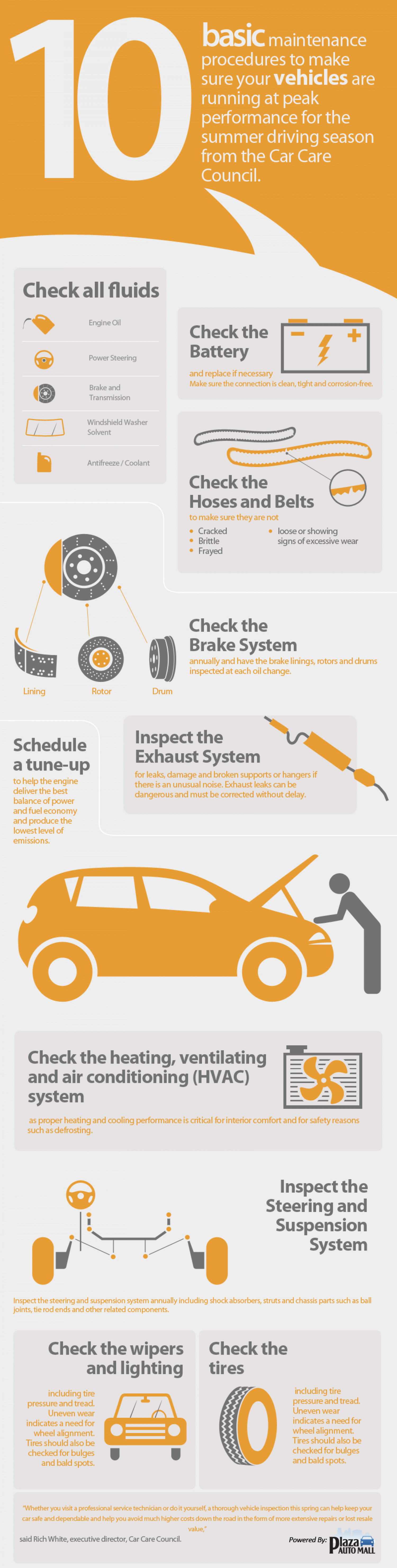 Ten Tips to Keep Your Vehicle at Peak Performance Infographic