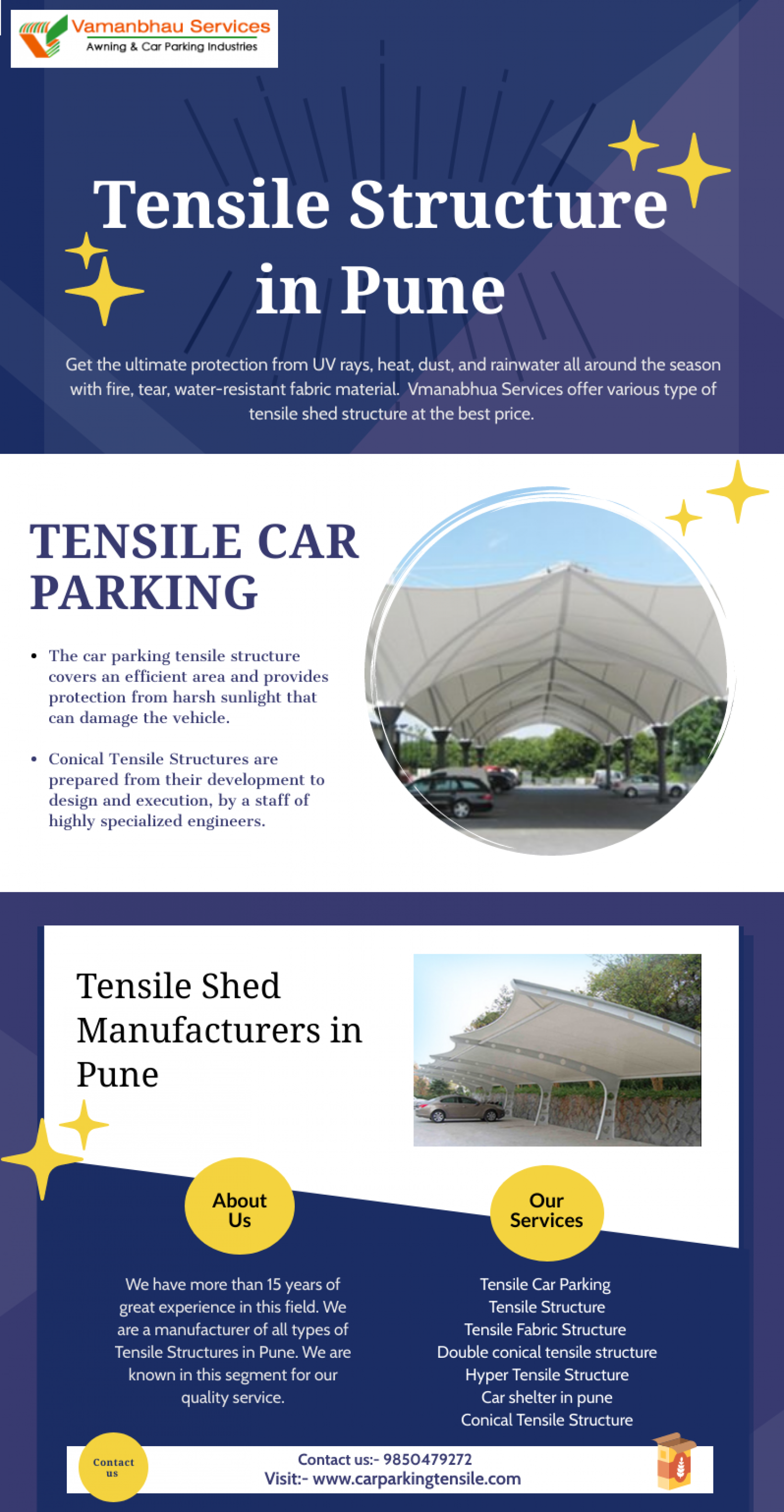 Tensile Structure in Pune Infographic