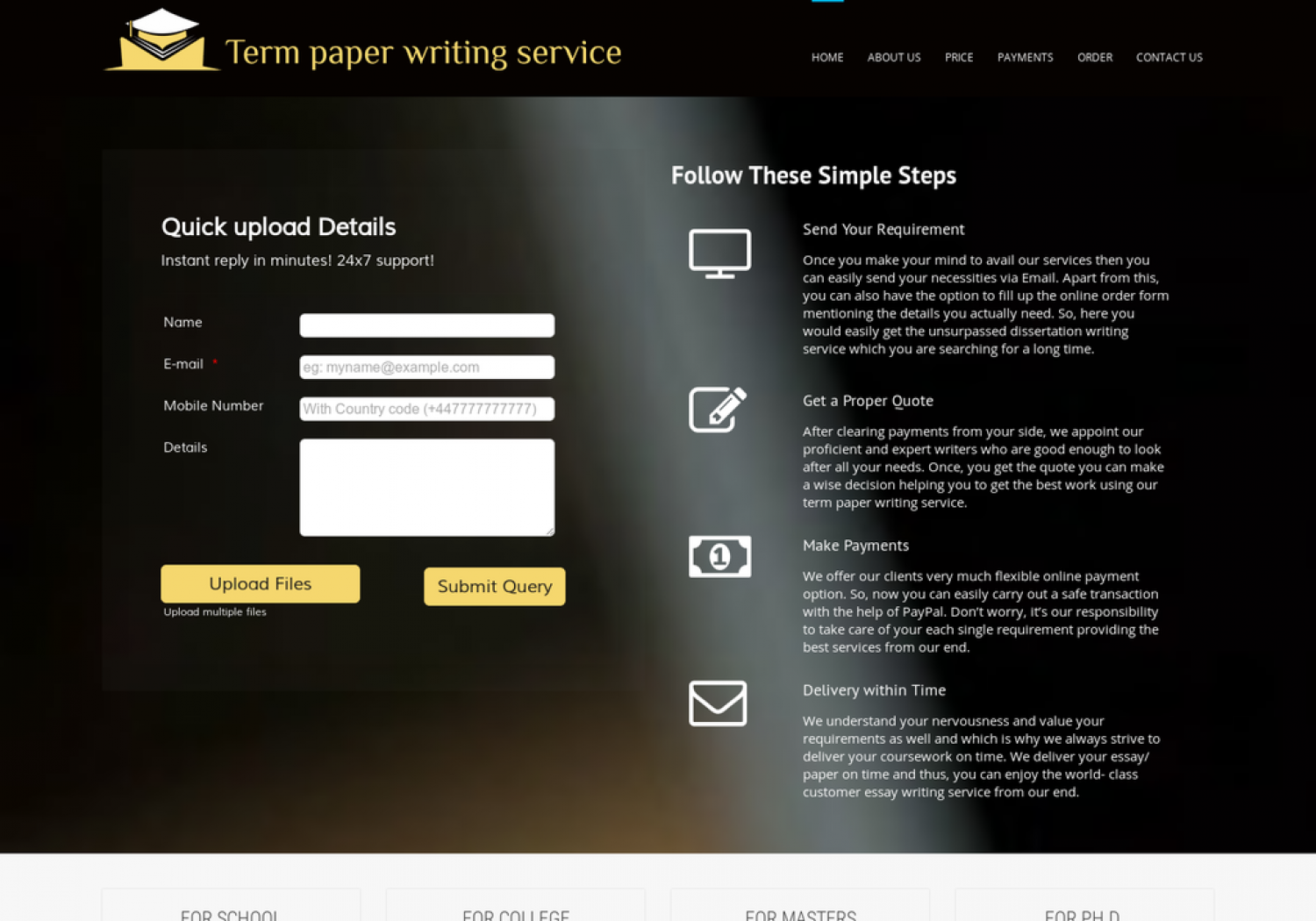 Term Paper Writing Service Infographic