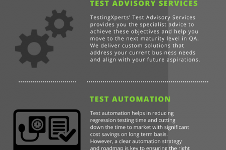 TestingXperts - Specialist Software Testing Company Infographic