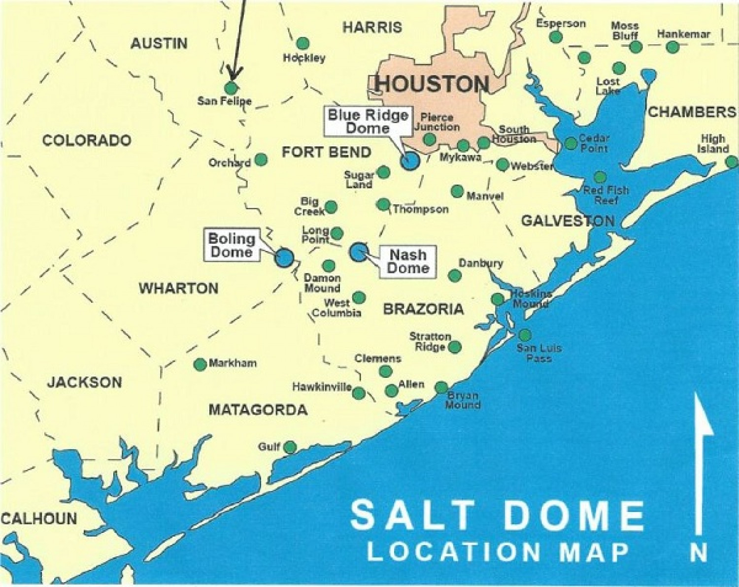 Texas Energy Exploration LLC SaltDome Locations Visually
