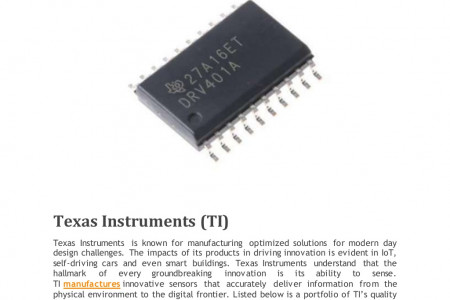 TEXAS INSTRUMENTS COMPLETE SENSOR SOLUTIONS Infographic