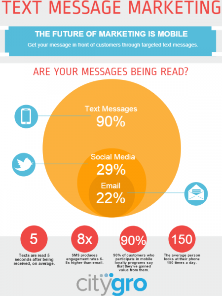 Text Message Marketing Statistics Infographic