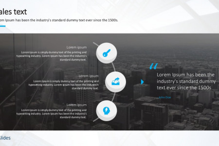 Text Slides Template | Sales | Free Download Infographic