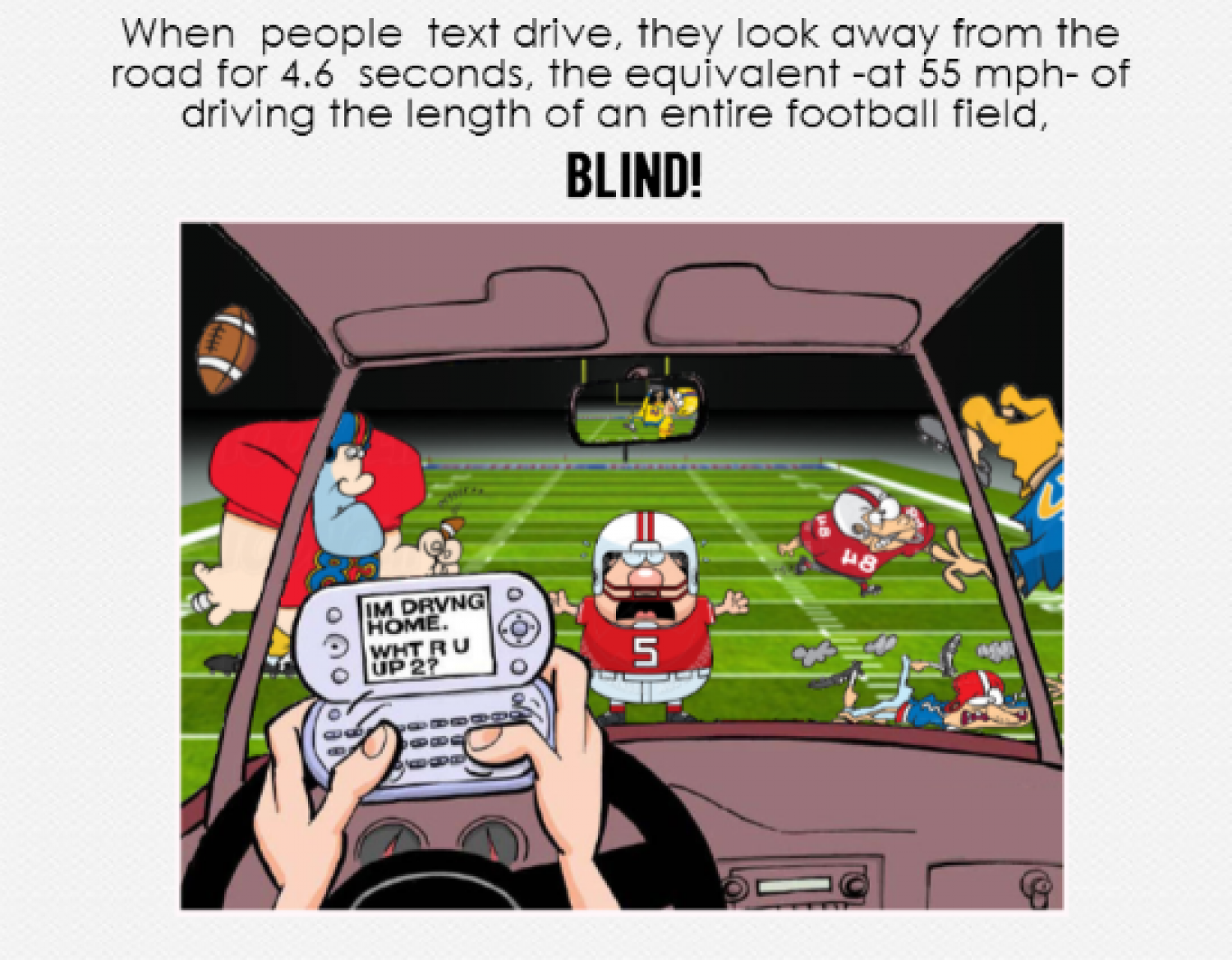 Text Driving What's the Big Deal? Infographic