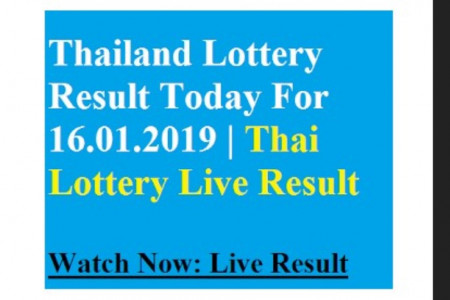 Thai Lottery Result Today For 16.01.2019 | Thailand Lotto live Infographic