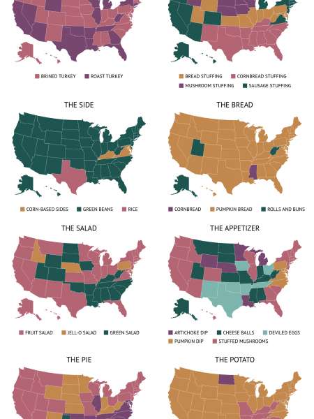 Thanksgiving Differences Infographic