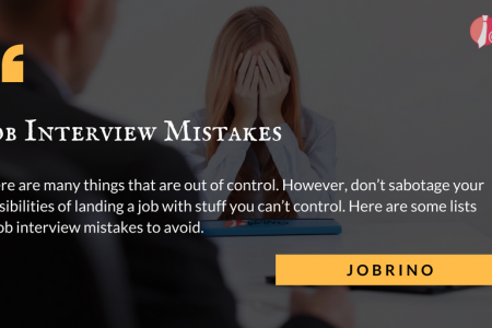 The 14 most common #job #interview mistakes - Jobrino. Infographic