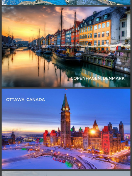 Travel Infographics Visually - The 5 safest cities for women to travel alone in canada