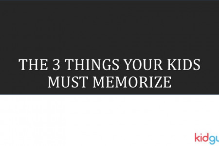 The 3 things your kids must memorize Infographic