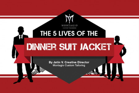 The 5 Lives of the Dinner Suit Jacket Infographic