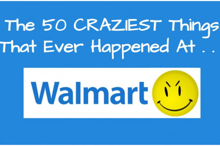 The 50 Craziest Things That Ever Happened At Walmart Infographic