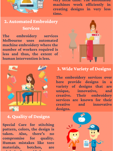 The Advantage of Machine Embroidery Services Infographic