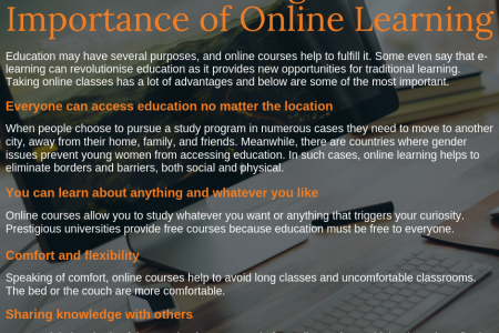 The Advantages and Importance of Online Learning Infographic