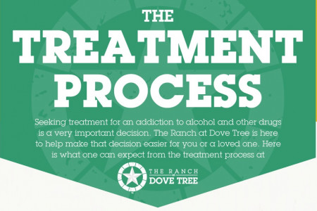The Alcohol & Drug Addiction Treatment Process Infographic