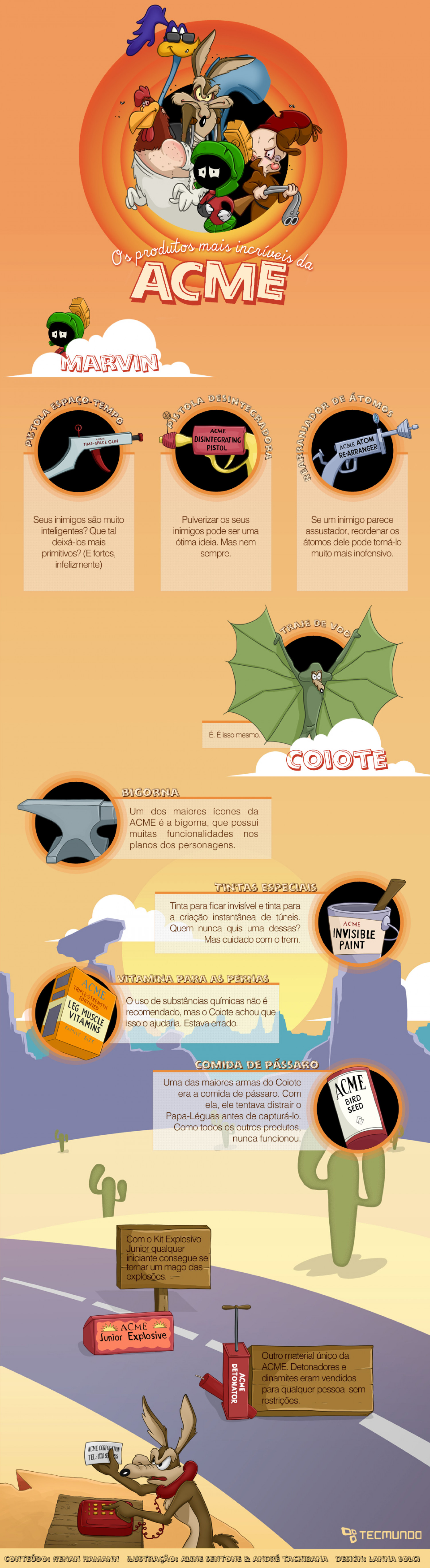 The amazing tools from ACME Infographic