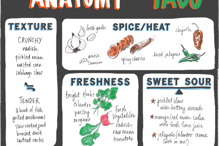 The Anatomy of a Taco Infographic