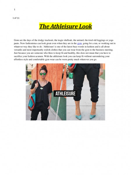The Athleisure Look Infographic