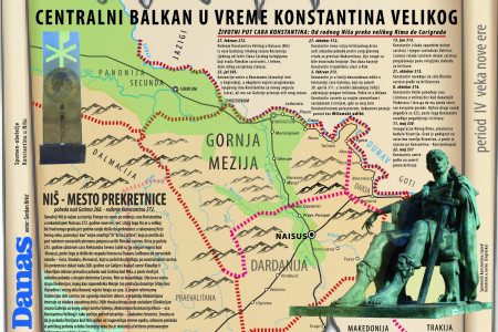 The Balkans on the time of Constantin the Great Infographic