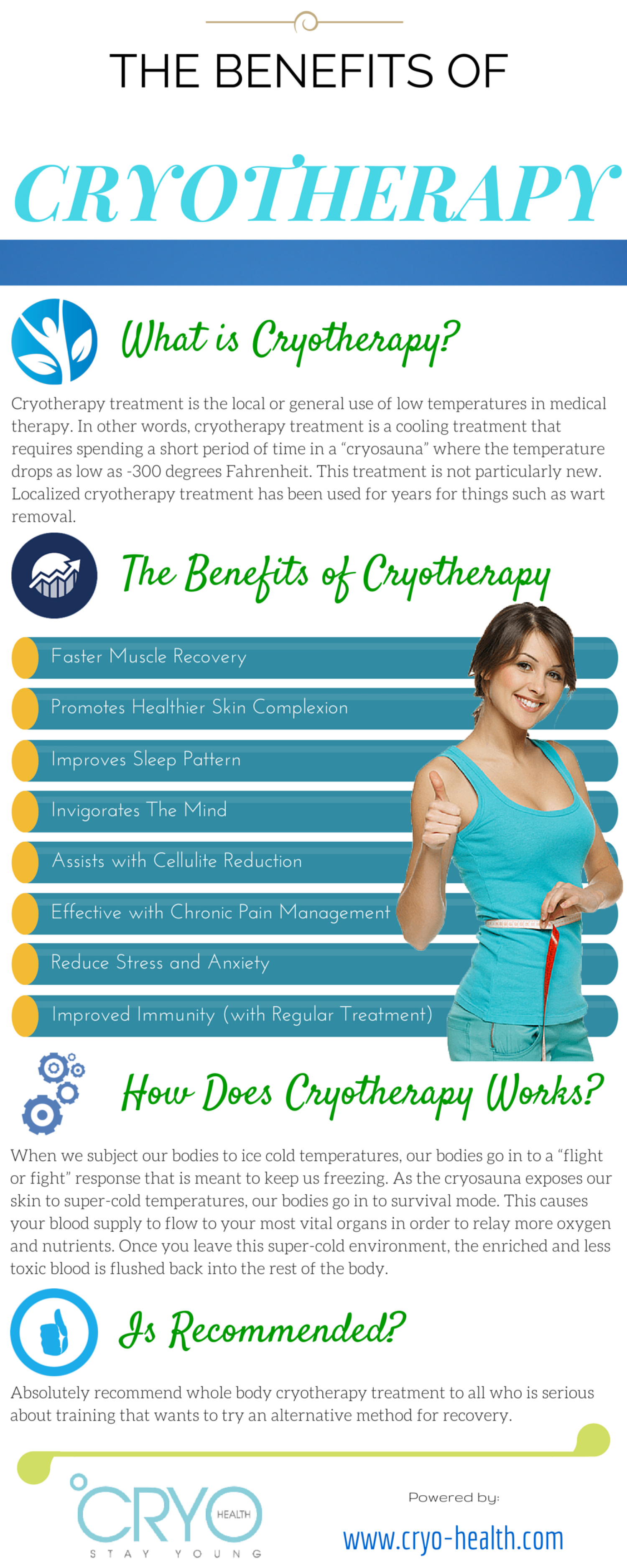 THE BENEFITS OF CRYOTHERAPY Infographic
