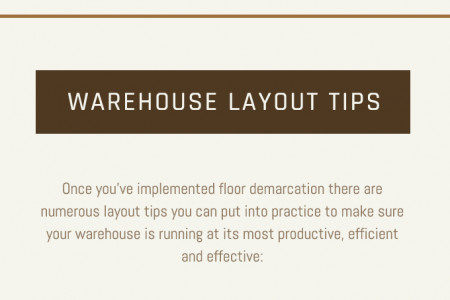 The Benefits of Demarcation and Warehouse Layout Design Tips Infographic