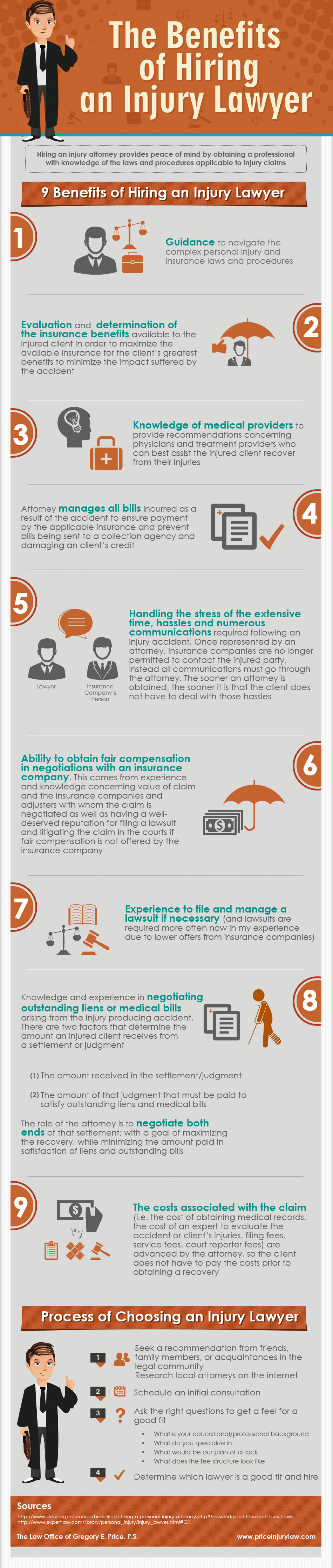 The Benefits of Hiring an Injury Lawyer  Infographic