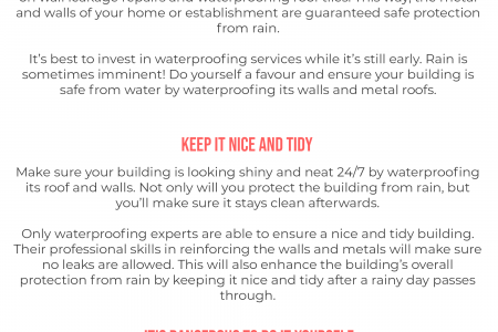 The Benefits of Hiring Waterproofing Services Infographic