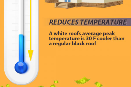 The Benefits of White Roofs Infographic