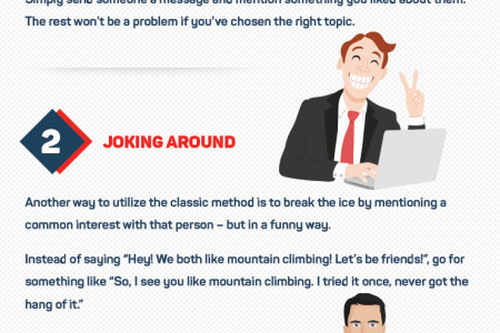 The Best 3 Ways to Break the Ice when Meeting People Online Infographic