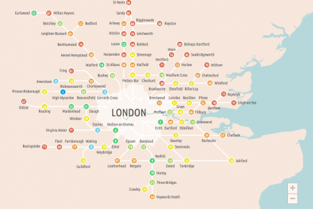 The Best Commuter Hotspots Infographic